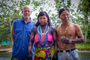 Larry with Colombian Indigenous People in Choco